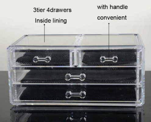 Transparent Acrylic Jewelry Box Necklace Ring Holder