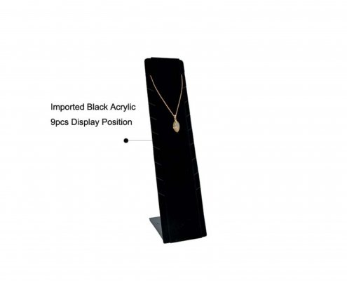 Black Acrylic Necklace Display Vertical Stand