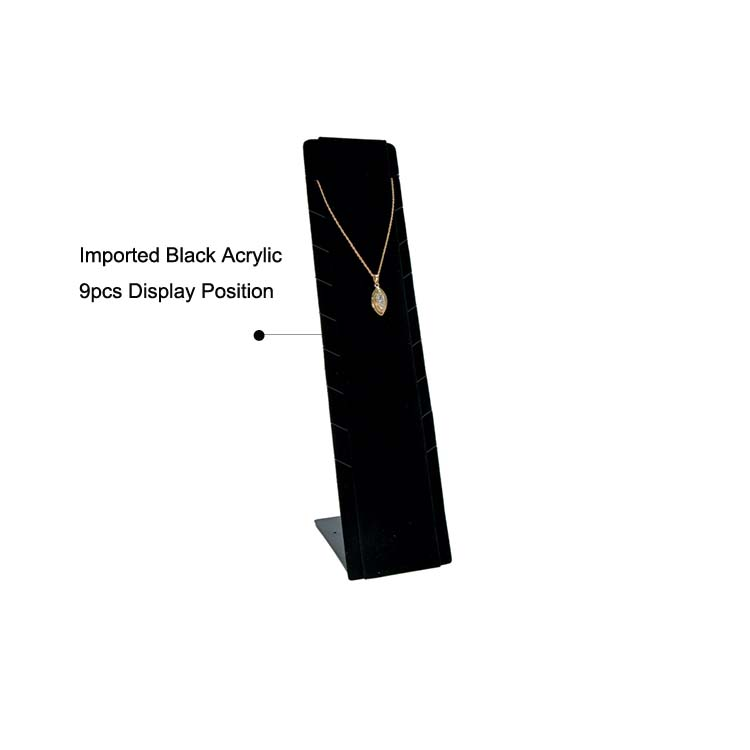 Black Acrylic Necklace Display Vertical Stand 974036014 729