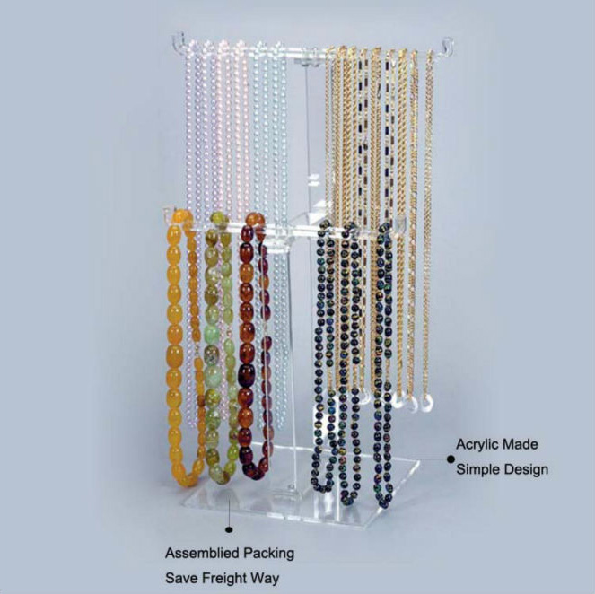 Clear Acrylic Jewelry Rods Display