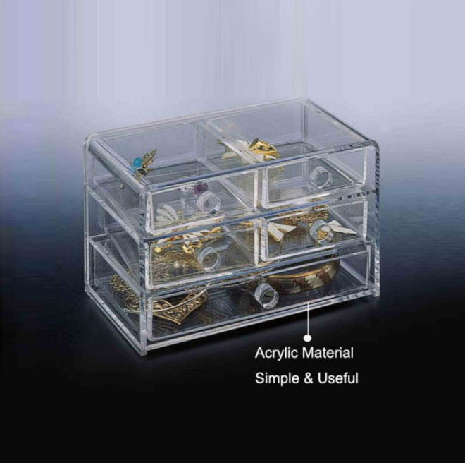 Clear Acrylic Jewelry Display Organizer jewelry displays and boxes