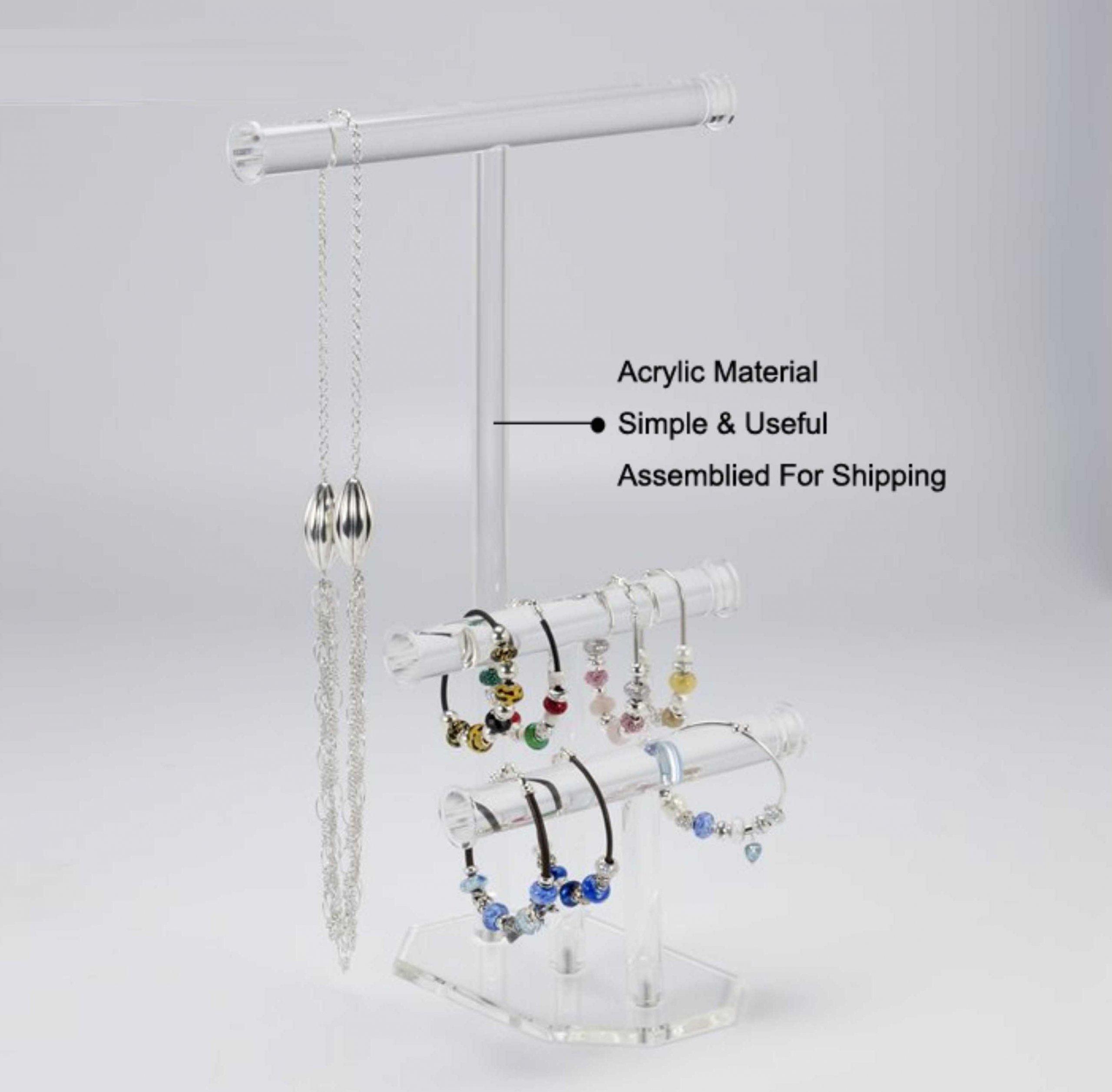 bracelet display rack Portable Acrylic Jewelry Display Rods Stand