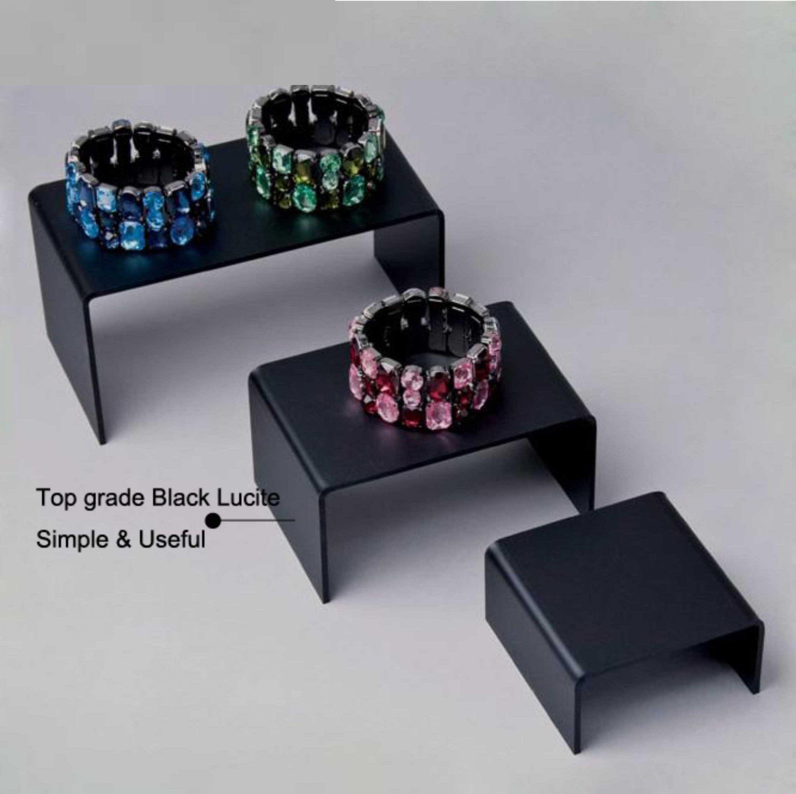 black acrylic ring display risers handmade jewelry displays