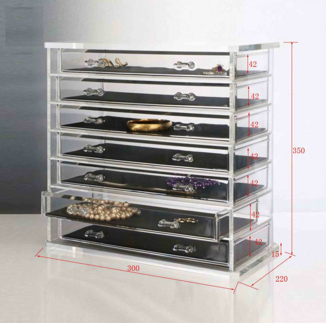 7 Layers Jewellery Showcase acrylic jewelry display case