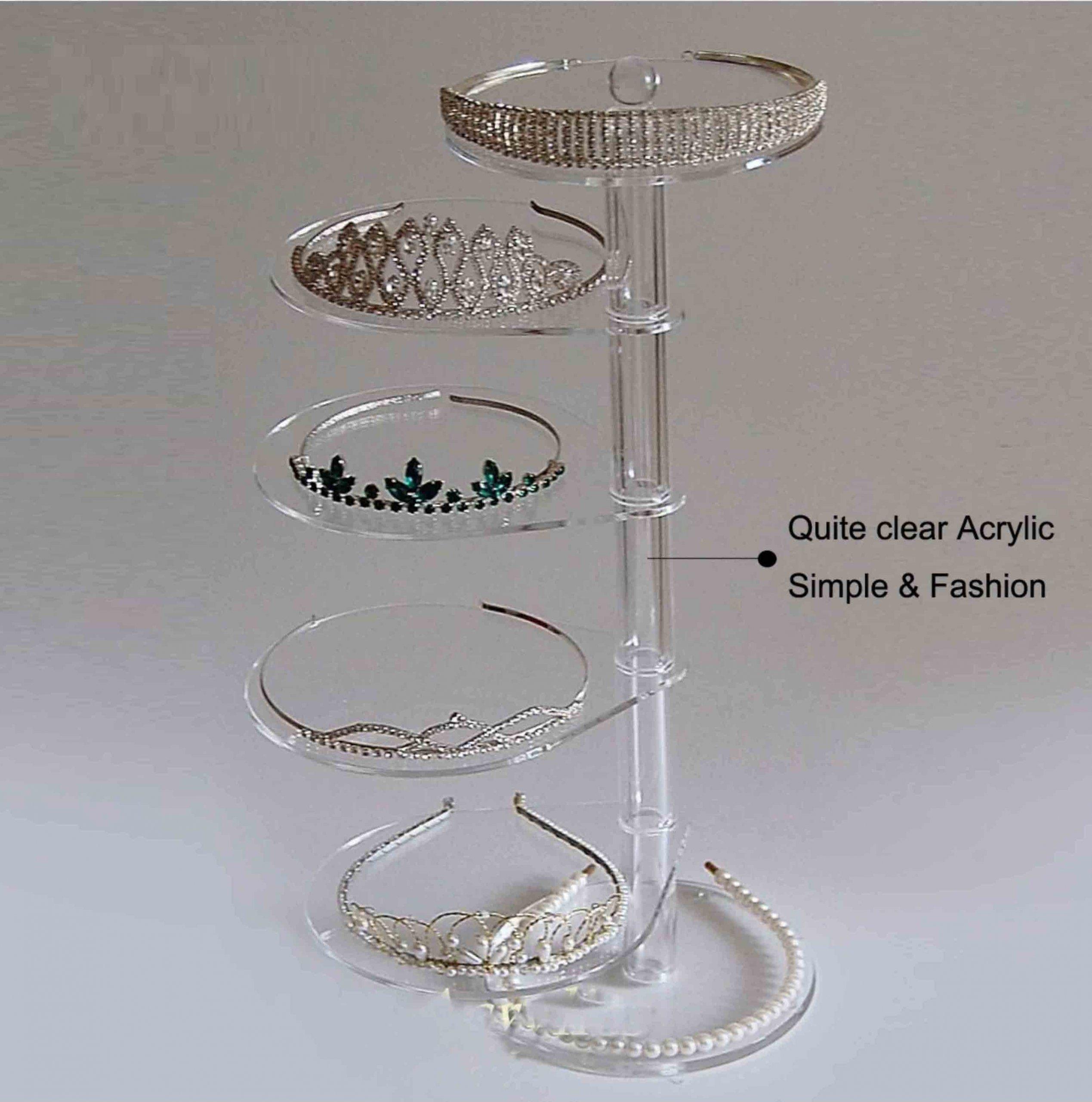 Revolving Acrylic Jewelry Display Table Kits rotating necklace display