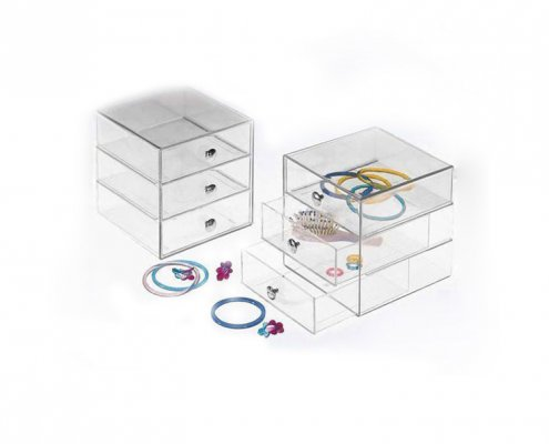 3 Levels Transparent Acrylic Jewelry Box
