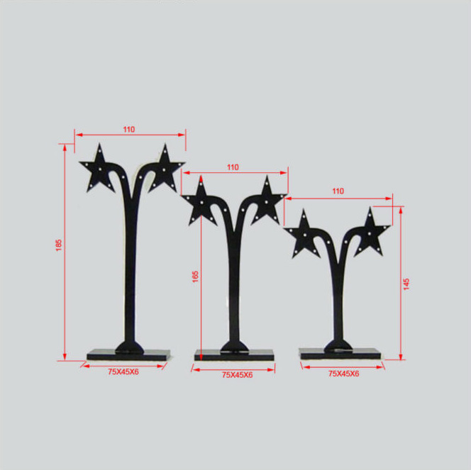 earring stands wholesale Star-tree-shaped Acrylic Earring Stand