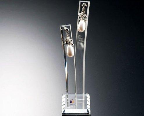 Vertical Acrylic Bracelet Holder Earing display