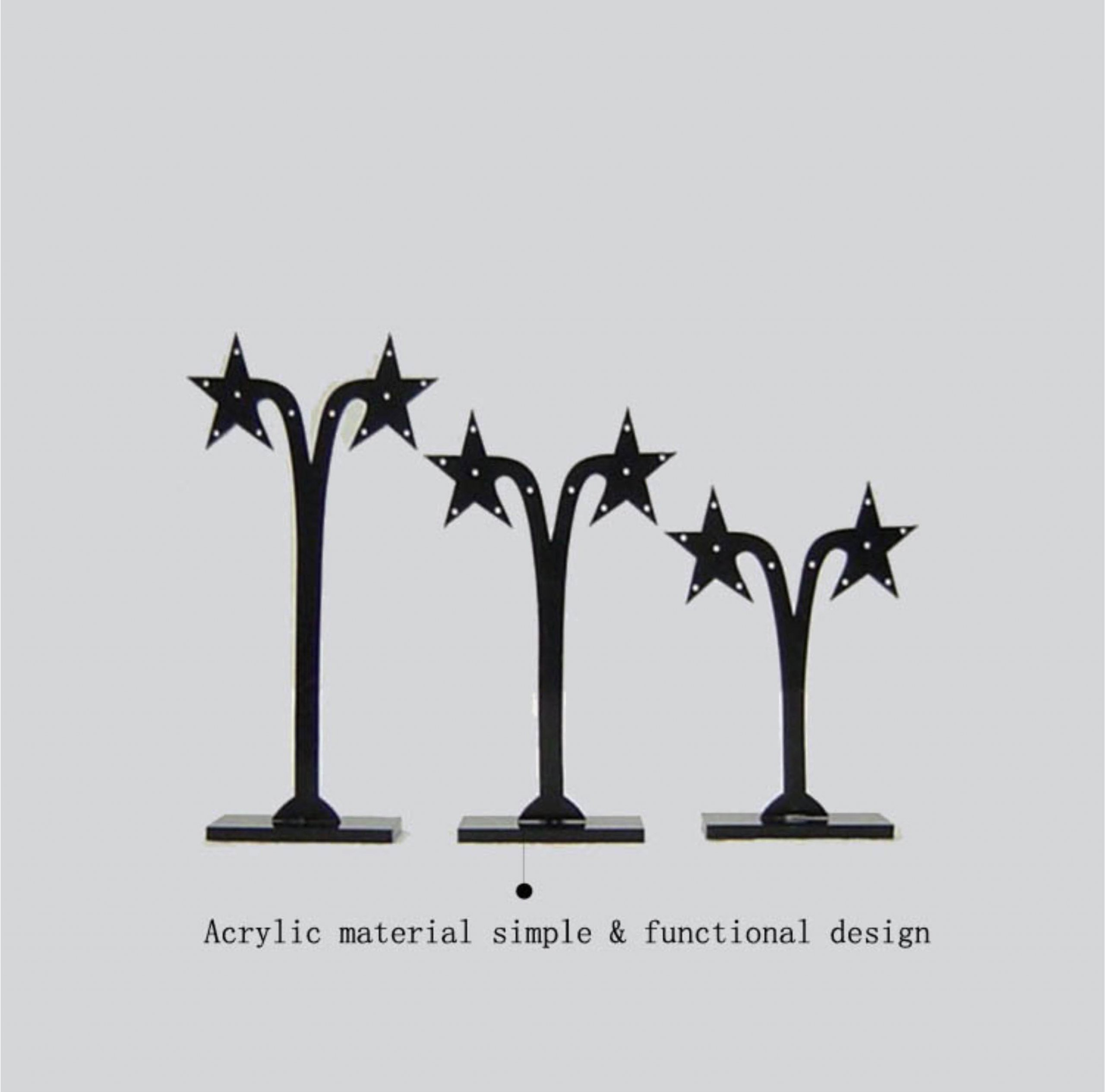 earring stands and displays Star-tree-shaped Acrylic Earring Stand