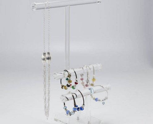 Portable Acrylic Jewelry Display Rods Stand