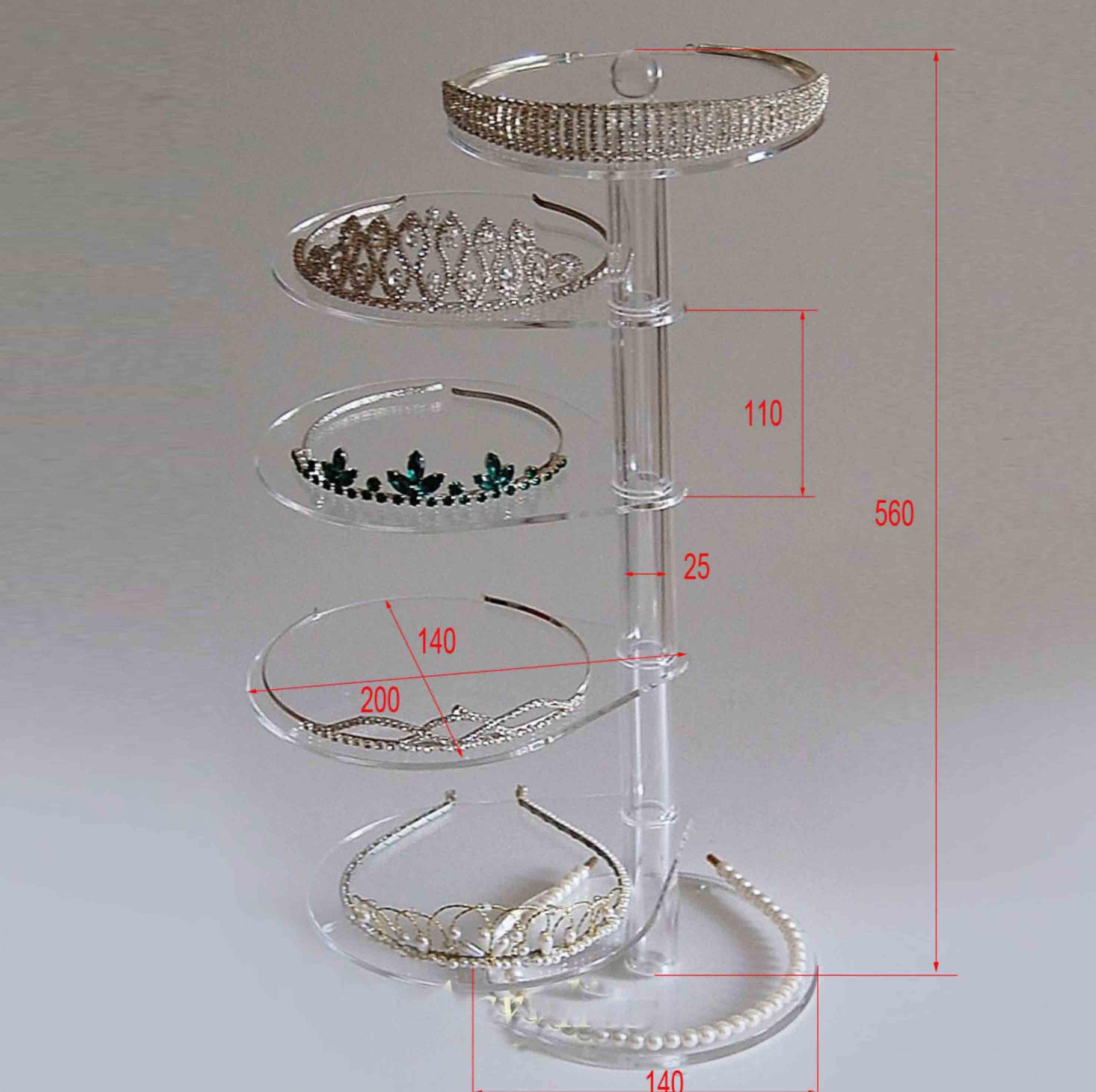 Revolving Acrylic Jewelry Display Table Kits earring display tray