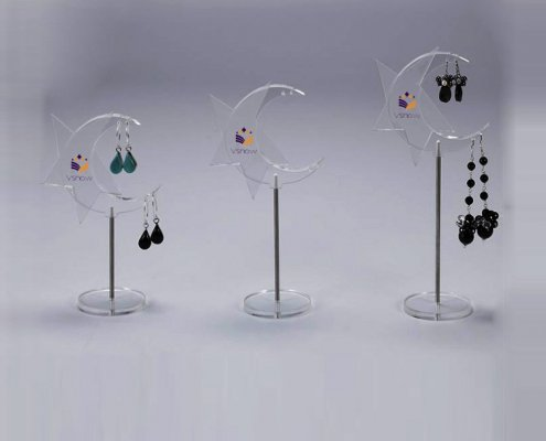 Small Acrylic Earring Countertop Stands