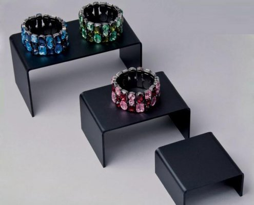 Black Acrylic Ring Display Risers