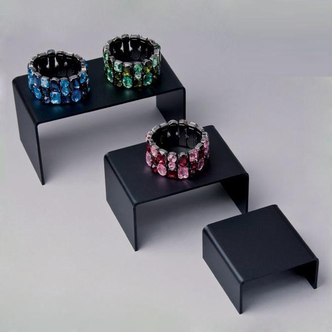 Black Acrylic Ring Display Risers