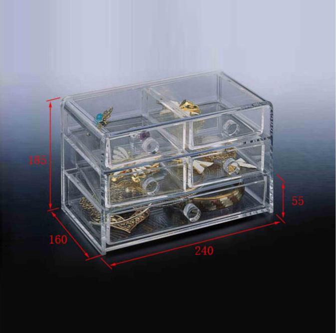Clear Acrylic Jewelry Display Organizer jewelry display drawers