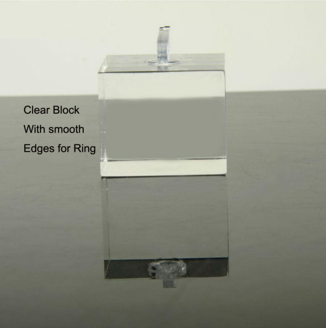 acrylic ring display cube wholesale jewelry display supplies