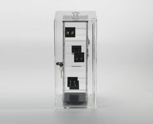 Rotating Jewelry Display Case with Lock