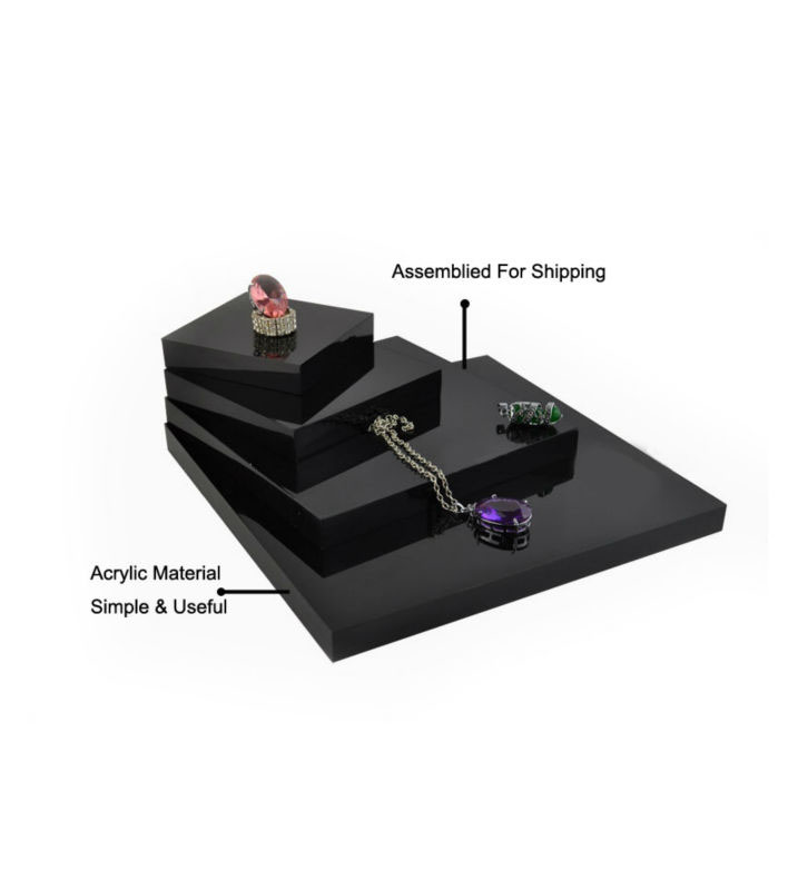 Countertop Acrylic Jewelry Display Basement Kits jewelry risers