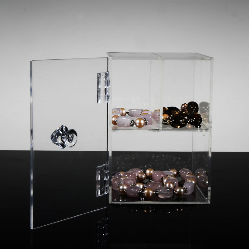 Clear Acrylic Display Cabinet with Hinged-Lid