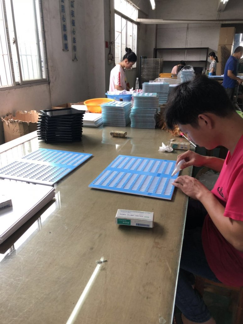 Chinov Display's bonding acrylic nail gel color book