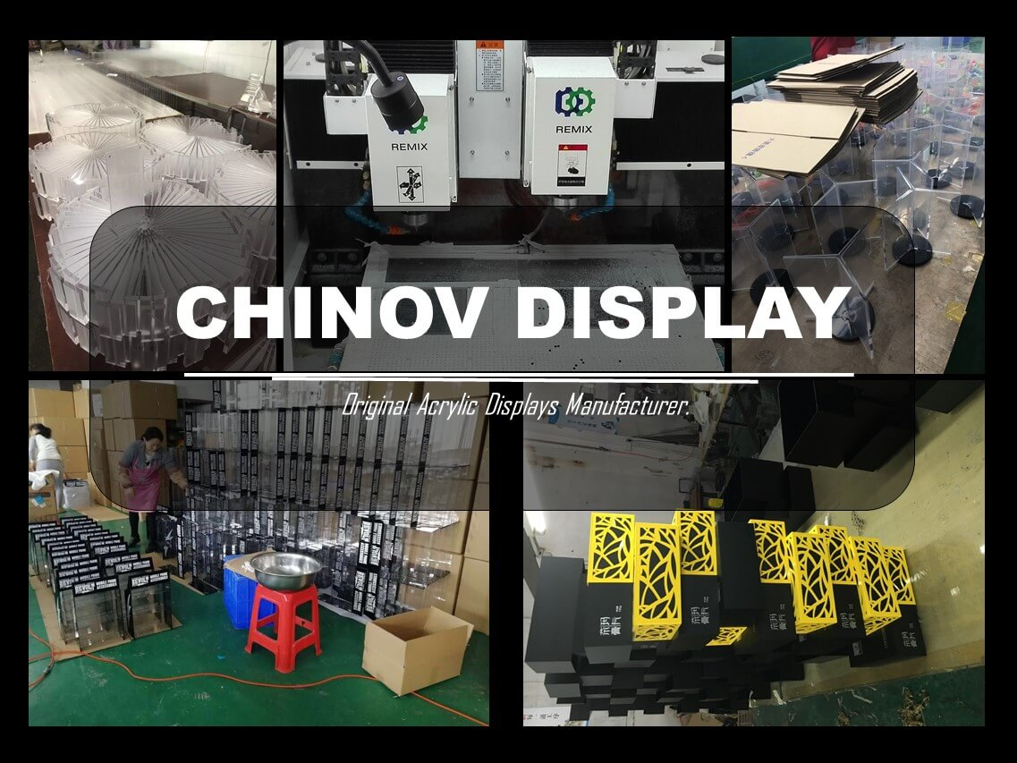 Custom Assembled Advertising Acrylic Cosmetic Display Wholesale Manufacturer