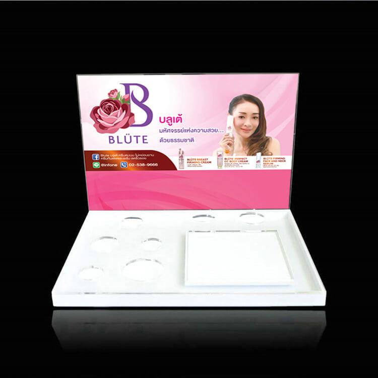 Custom Assembled Advertising Acrylic Cosmetic Display