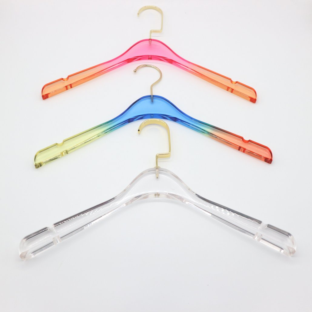 colorful acrylic hangers for women's clothing