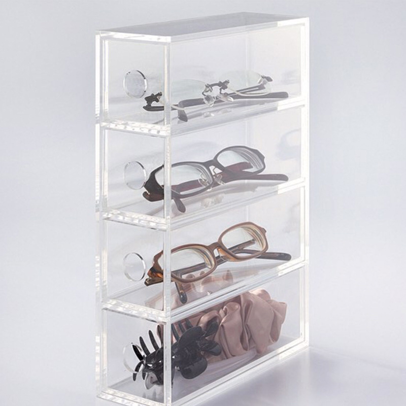 Large Acrylic Display Case With Shelves