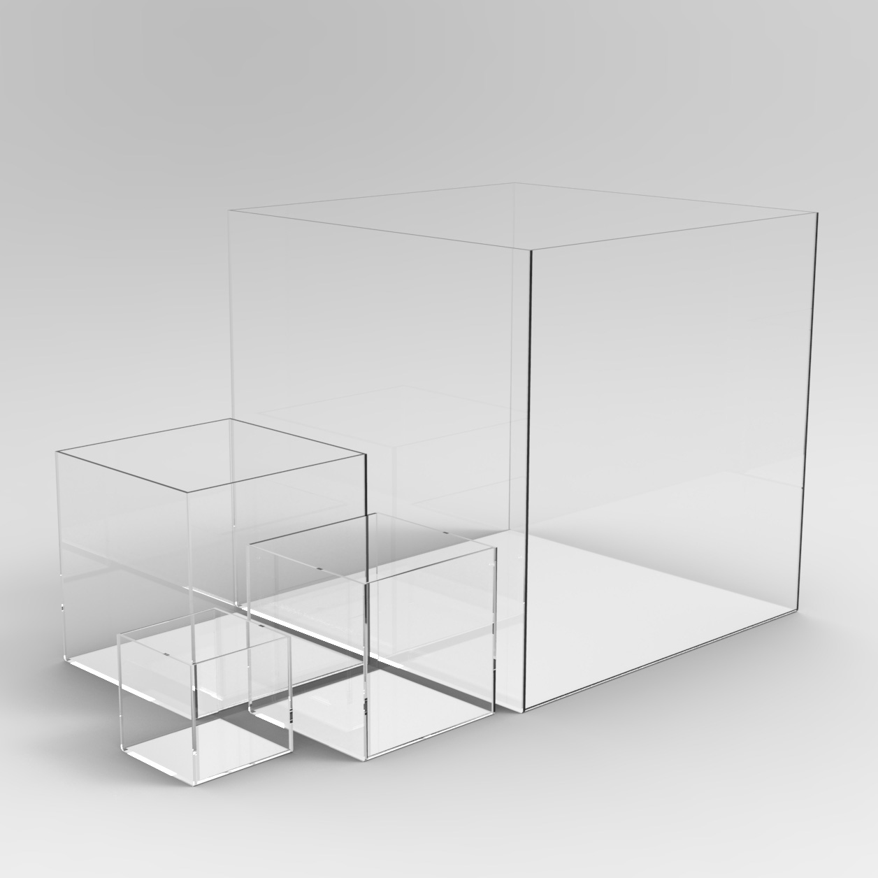 Square Acrylic Display Case Large