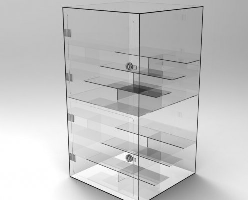 Countertop Acrylic Display Case Large