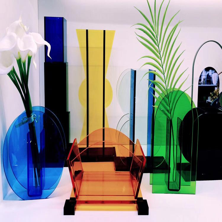 clear acrylic flower box acrylic flower vase