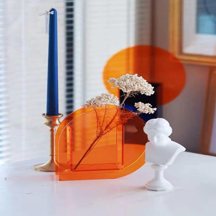 acrylic large flower vase