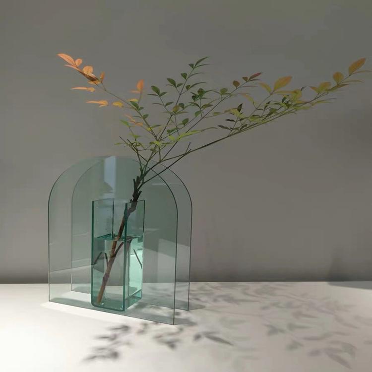 acrylic glass flower vase