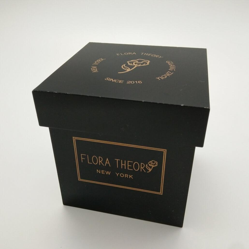 Black acrylic flower box empty box with lid