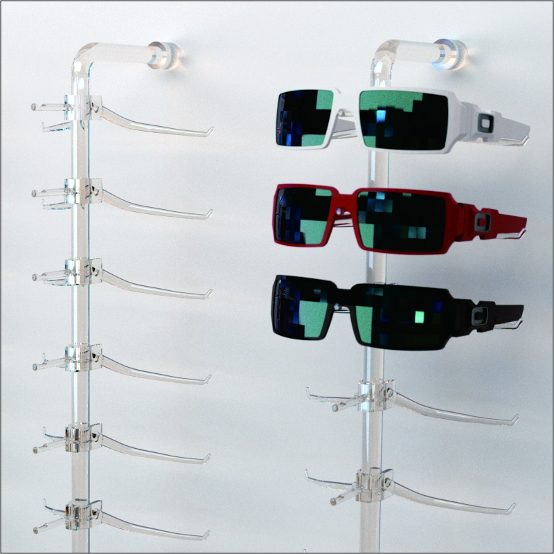 Acrylic Sunglasses Wall Rack
