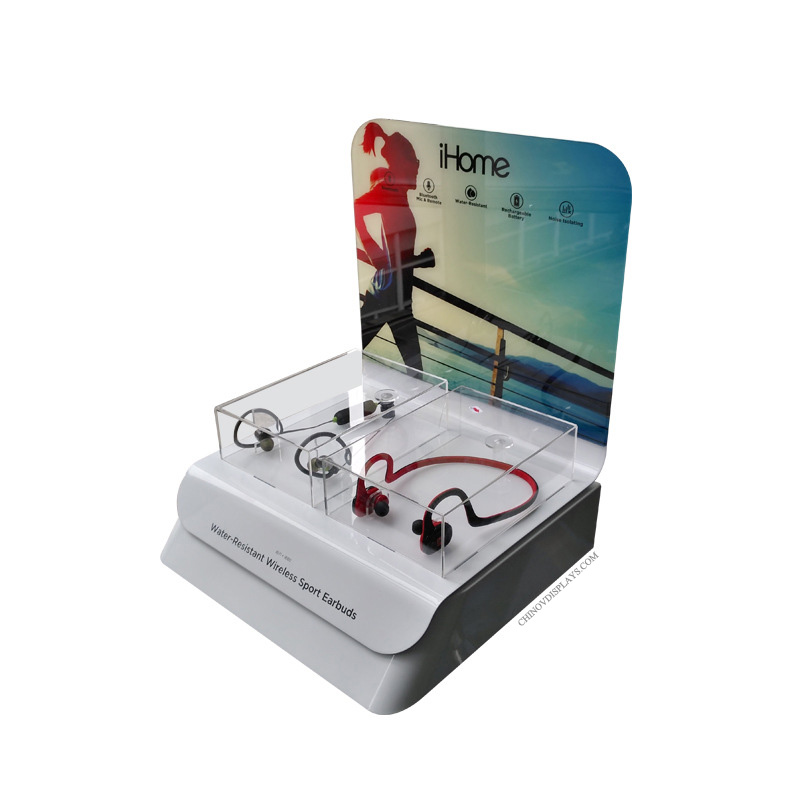 Custom Acrylic Bluetooth Earphone Samples Display Stand