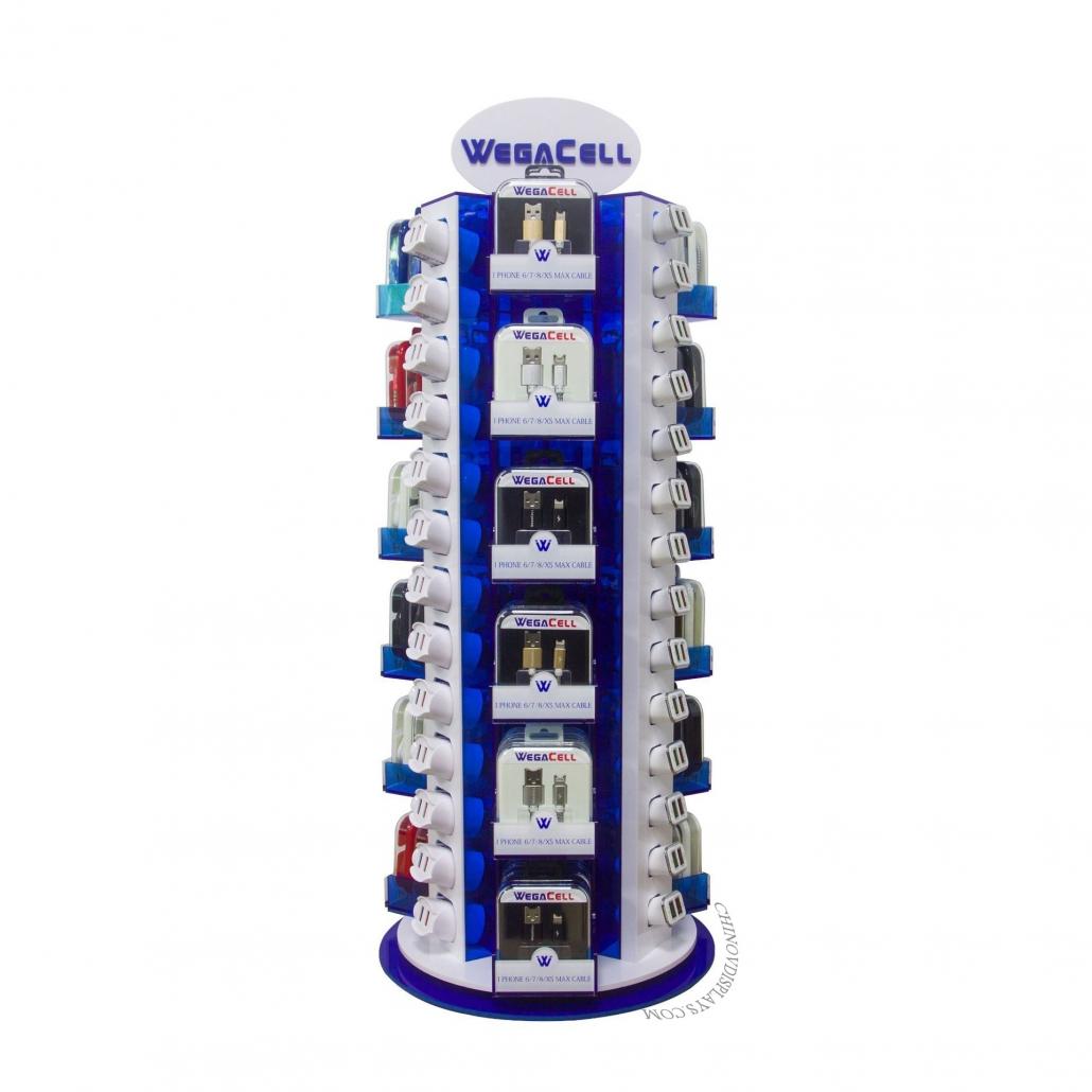 Custom Acrylic Display Case Electronics Stand Rotation Phone Accessories Display Rack