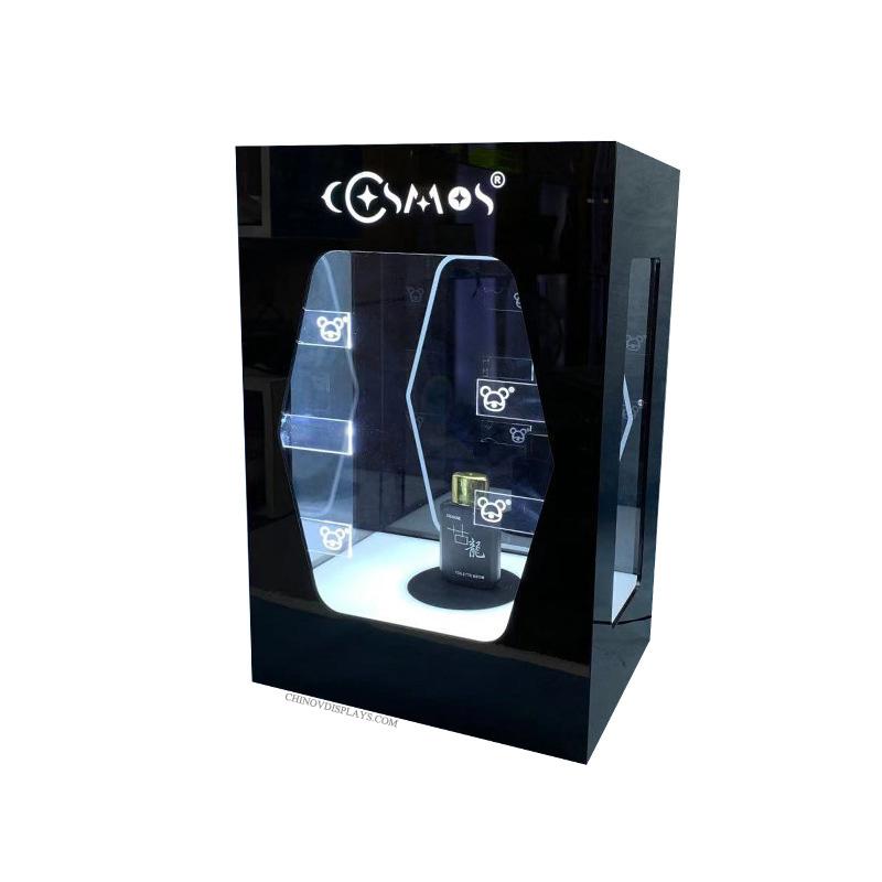 Custom Acrylic Display Case Funko POP LED Lighting Toys 360 Degree Revolving Stand