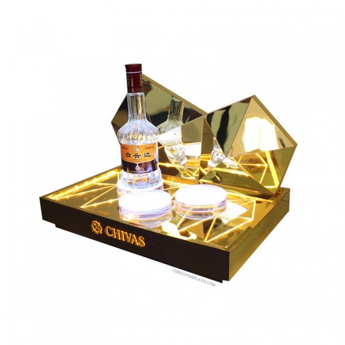 Custom Acrylic Display Case LED Wine Rack