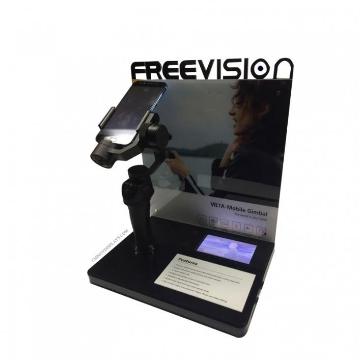 Custom Acrylic Display Case Phone PTZ POP Stand