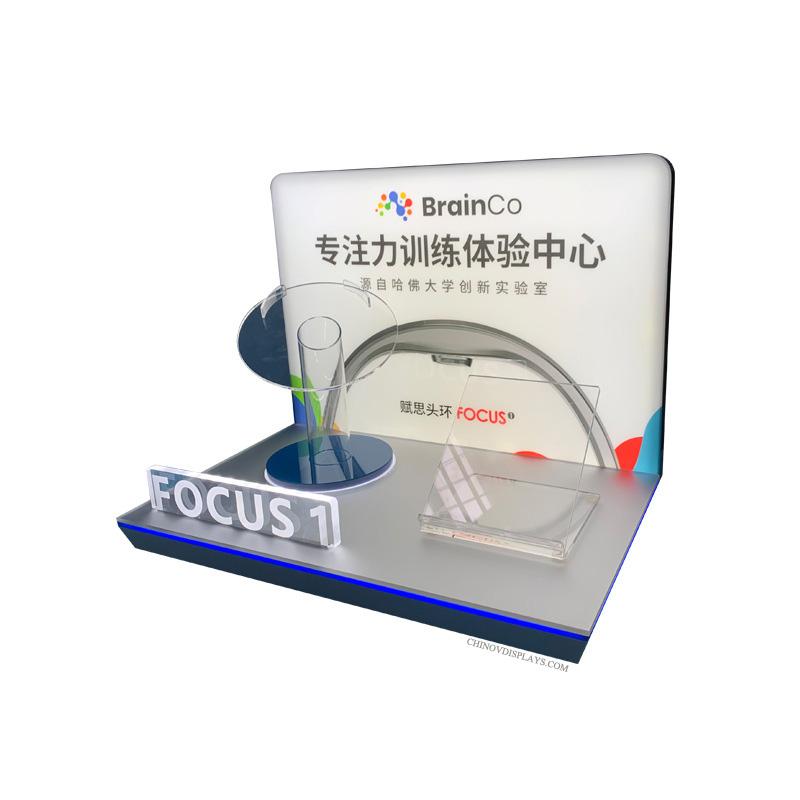 Custom Acrylic Display Electronics Smart Headband Plexi POP Stand