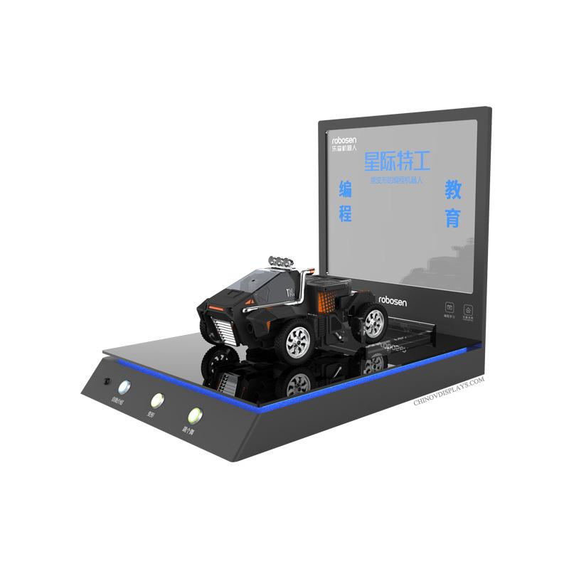 Custom Acrylic Display Interlligent Programming Robots Kid's Car Toys POP Stand
