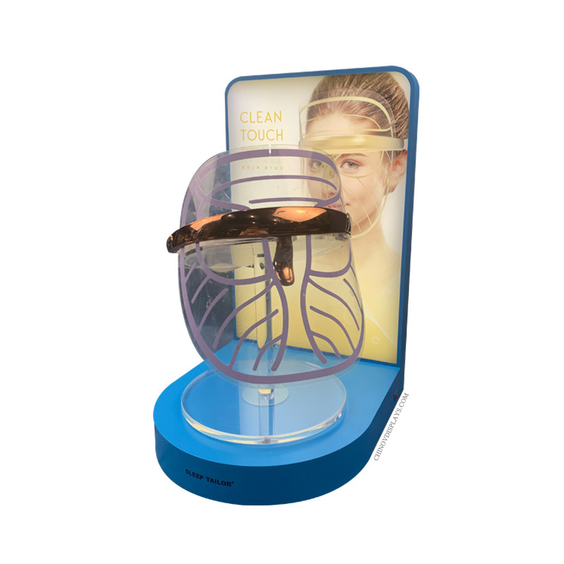 Custom Acrylic Display Skin Rejuvenation Beauty Mask Revolving POP Stand
