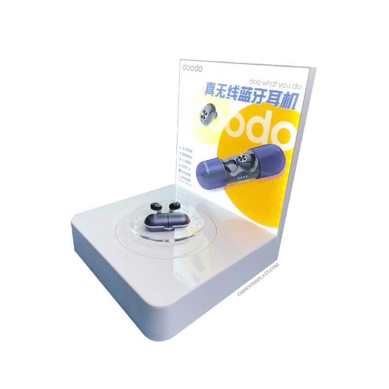 Custom Acrylic Display Wireless Bluetooth TWS Earphone Product Showcase Stand