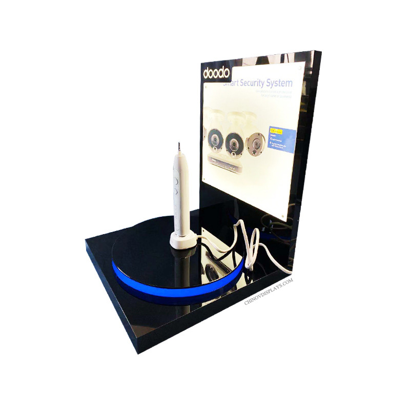 Custom Acrylic Stand Electric Toothbrush POP Display with LED Lights