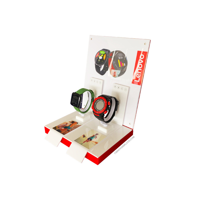 Custom Made Acrylic Display Digital Watches Smart Sporting Wristband Samples POP Stand
