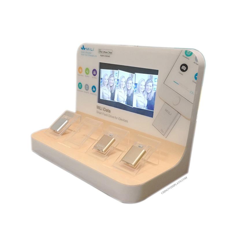 Customized Acrylic Mobile Phone U Disk POP Display Stand