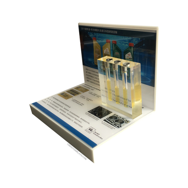 Customized Acrylic Oil Display POP Stand