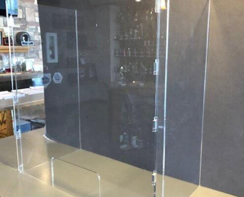 plexiglass shields for countertop