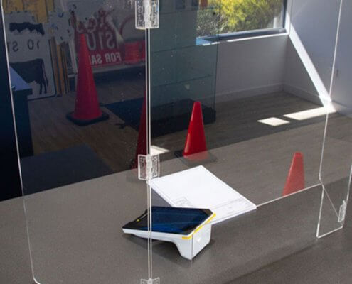countertop acrylic sneeze guard